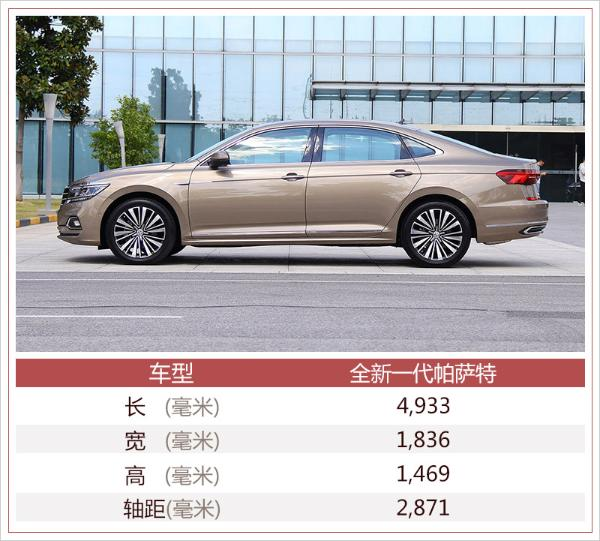 上汽大众全新帕萨特今日上市 预计18万元起售