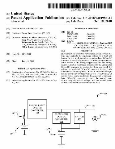 苹果新专利:将高压电源转换成低压 为汽车低功耗部件供电