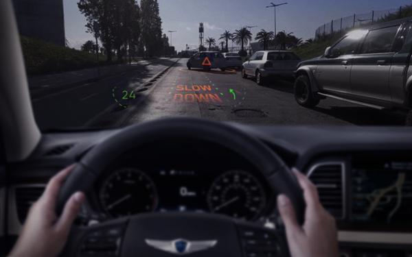 现代汽车集团合作WayRay 2019 CES展推全球首个全息AR导航系统