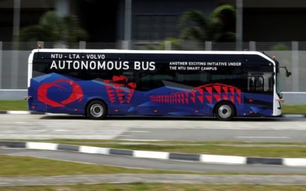 沃尔沃推世界首款全尺寸自动驾驶电动巴士 并将于新加坡进行路测