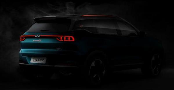 奇瑞全新一代瑞虎7预告图发布 换装大尺寸格栅 搭两款发动机