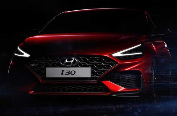 新款现代i30 N Line预告图 采用运动设计风格 日内瓦车展亮相