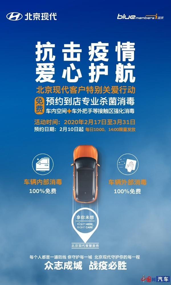 北京现代携经销商助力疫情防控