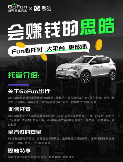 GoFun出行提振汽车消费,赋能产业创新发展
