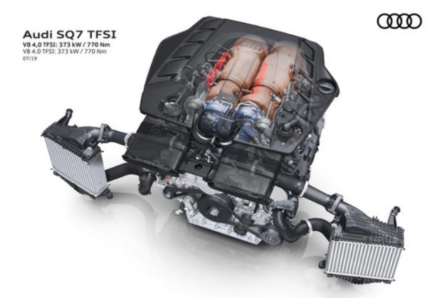 奥迪新款SQ7于西班牙开售 搭4.0T V8汽油发动机