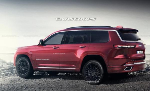 Jeep大切诺基渲染图曝光 将于1月8日发布