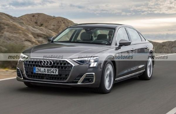新款奥迪A8渲染图曝光 比奔驰S级更大气 年底亮相