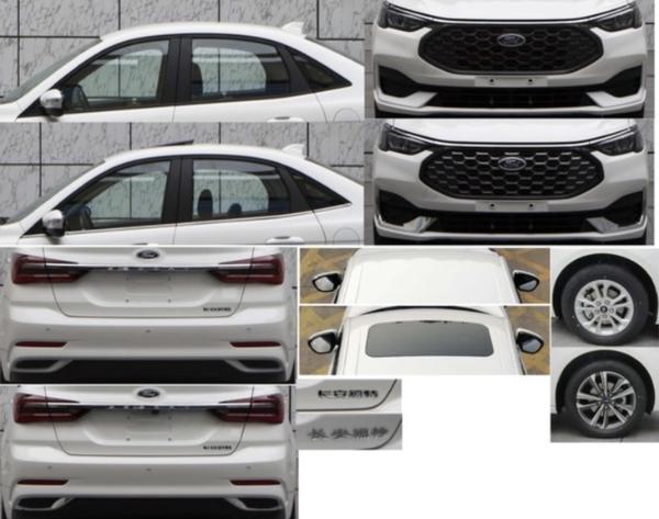 新款福特福睿斯申报图曝光 采用全新外观设计