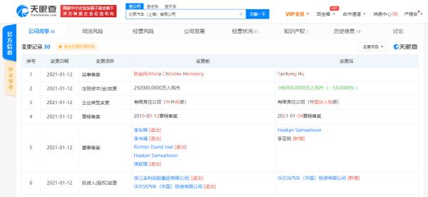李书福退出北辰汽车关联公司董事一职