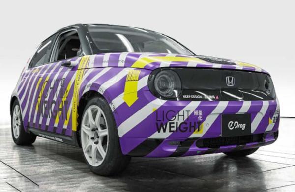 整车轻量化设计本田e-Drag直线赛车