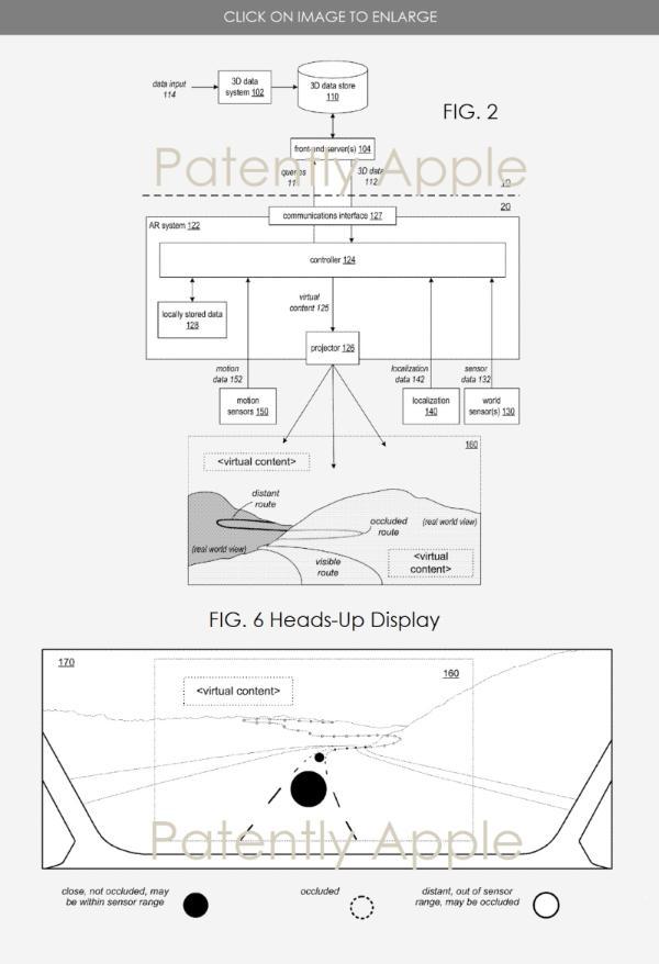 苹果新获三项泰坦项目专利 含3D AR抬头显示屏、新安全气囊系统等