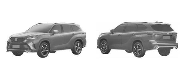 一汽丰田版汉兰达专利地图曝光配运动套件设计更大胆