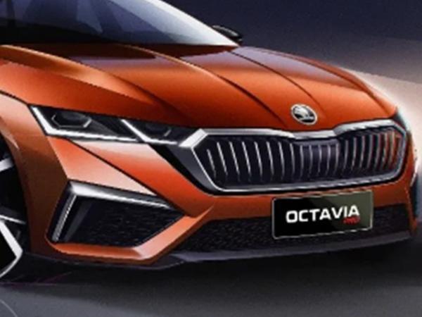 上汽大众斯柯达OCTAVIA PRO设计图发布 造型设计更年轻