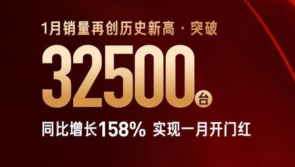 红旗1月份销量宣布达到3.25万辆 增长158%