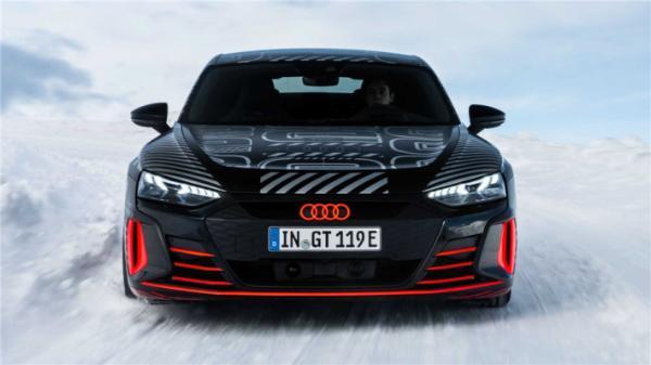 100公里加速3.5秒 奥迪e-tron GT最新预告发布