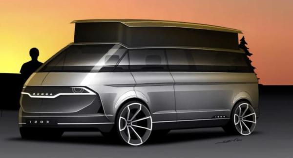 新的斯柯达1203渲染曝光设计非常具有未来感
