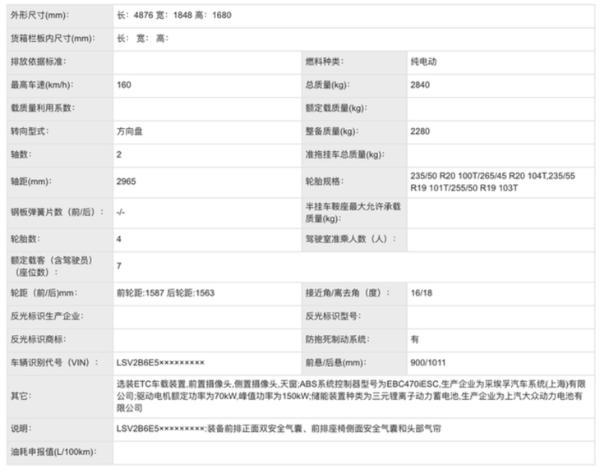上汽大众ID.6 X申报图曝光 或将今年三季度上市