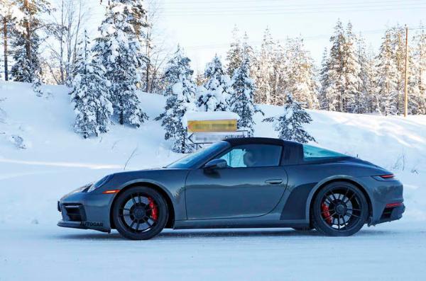 全新保时捷911 Targa GTS测试谍照 首次更新换代 搭载3.0T发动机