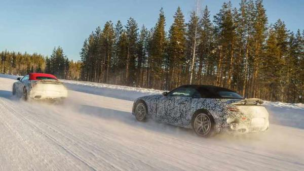 全新AMG SL级最新谍照 提供升降式扰流板 或成V8绝唱