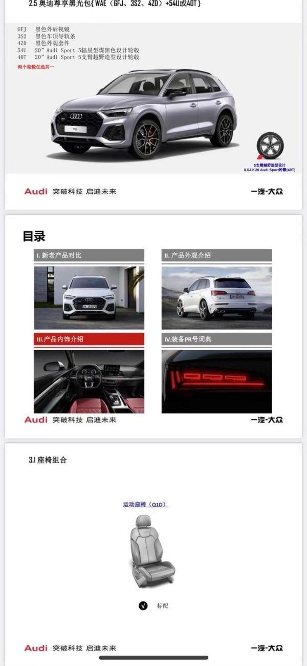 全新奥迪SQ5国内亮相 预售价63万 或上海车展上市