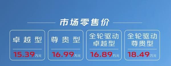长安UNI-K正式上市 售15.39万元-18.49万元