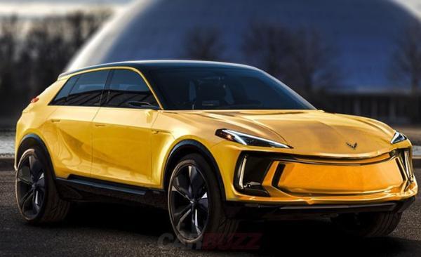 雪佛兰克尔维特SUV渲染曝光定位高性能纯电动SUV