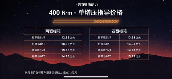 SAIC大通MAXUS T90正式推出销售从129 800/定位旗舰皮卡