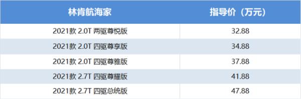 国产林肯航海家上市,32.88万起,哪款更值得购买?