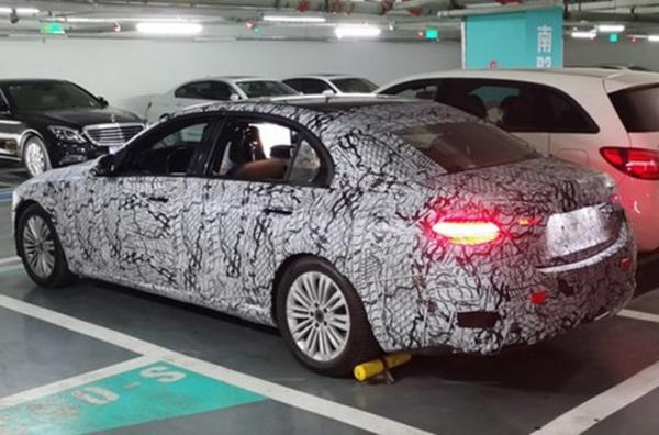 国产全新一代奔驰C级国内谍照曝光 轴距达2954mm 或上海车展亮相