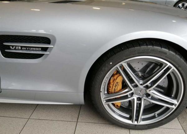 奔驰AMG GT敞篷版车型实拍图 搭4.0T V8发动机