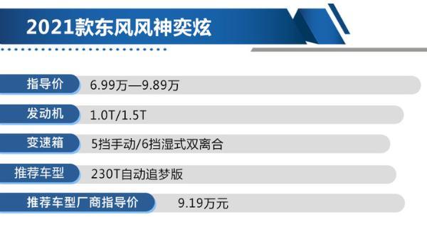 新款东风风神奕炫购车手册 230T自动追梦版值得买