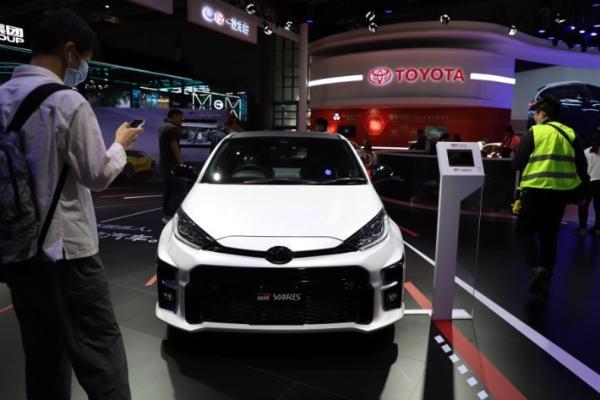 上海车展实拍丰田GR YARiS ,地表最强三缸机