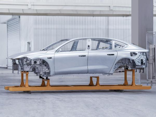 威来ET7第一款白车身将于2022年第一季度交付