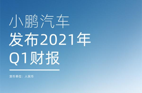 小鹏汽车Q1财报发布 营收29.51亿元 较去年同期增长六倍