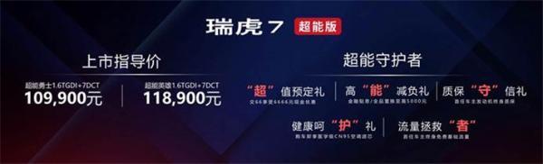 奇瑞瑞虎7超能版上市,售10.99万起