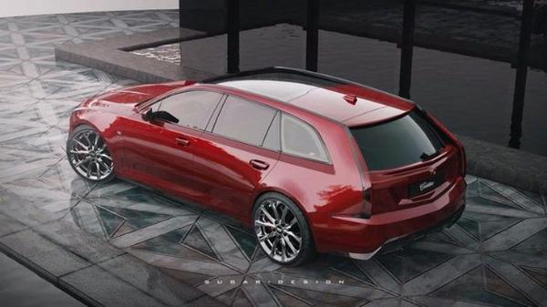 凯迪拉克CT5旅行版渲染图曝光 或将提供6.2L V8发动机