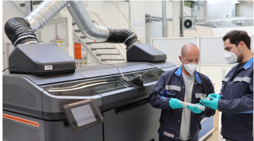 大众首次采用喷胶粘粉成形工艺 将3D打印用于生产过程