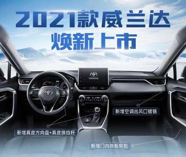 广汽丰田威兰达价格调整 4款车型涨价1000元
