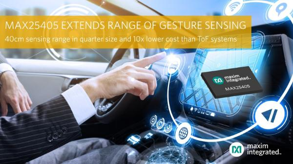 美信集成推出新红外动态手势传感器 传感距离翻倍/尺寸缩小25%