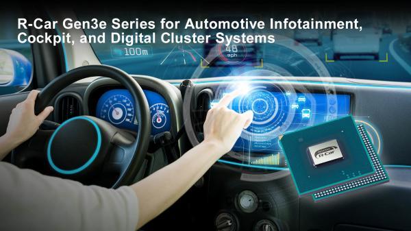 瑞萨电子推出用于汽车信息娱乐、驾驶舱和数字集群系统的R-Car Gen3e 可将CPU速度提高20%