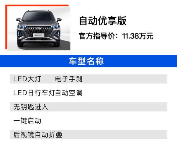 新款传祺GS4哪款值得买? 自动智行领航版性价比最高