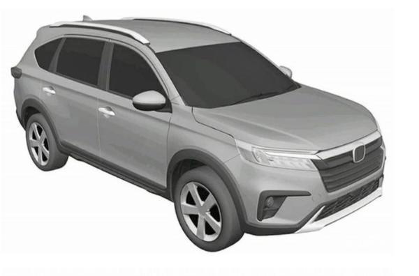 全新本田BR-V专利图曝光 有望今年8月正式亮相