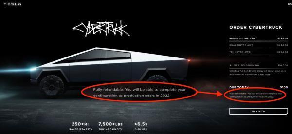 特斯拉证实Cybertruck生产推迟至2022年