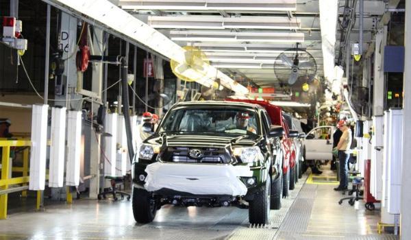 受疫情和芯片短缺影响,丰田北美工厂8月预计减产6-9万辆
