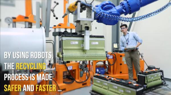 橡树岭国家实验室开发机器人拆解系统 使电池回收更快、更安全