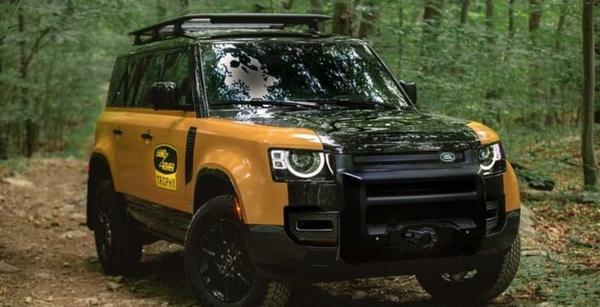 黄黑车身配色路虎卫士奖杯版发布限量版220台