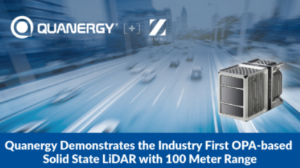Quanergy演示业界首例基于OPA的固态LiDAR 测距为100米