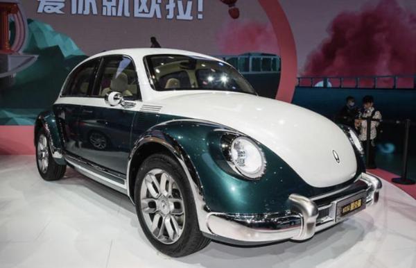 造型酷似甲壳虫 欧拉芭蕾猫成都车展正式发布