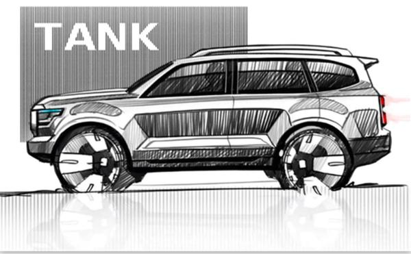 坦克600内饰曝光 配多块显示屏 预计第四季度上市