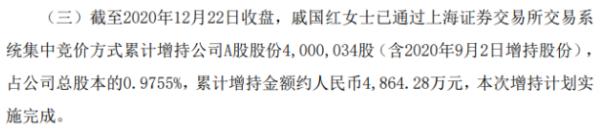 银都股份股东戚国红增持400万股 耗资约4864.28万元